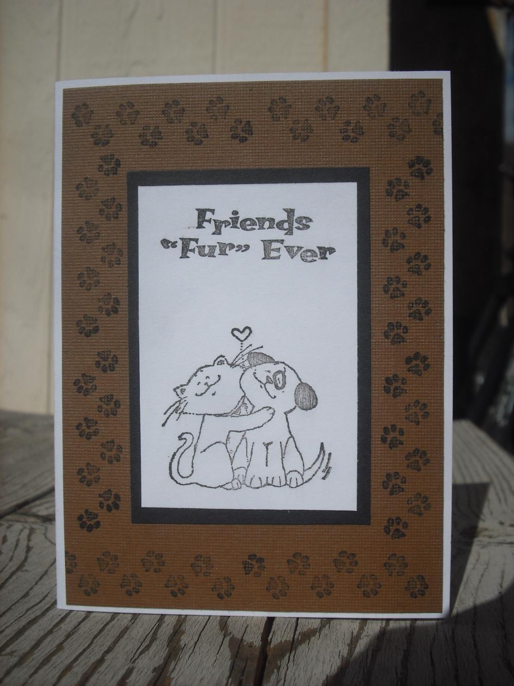 SALE Handmade Friends Fur Ever Card, Handmade Friends ...