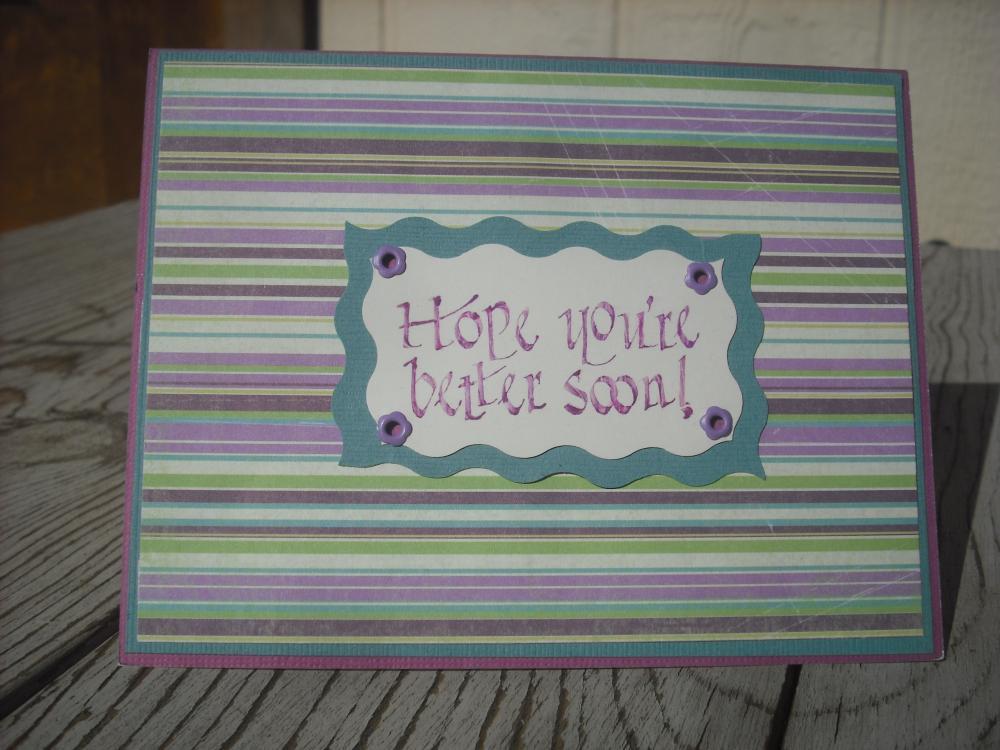 sale handmade get well soon card handmade hope you're